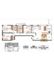 דירת 4 חדרים 106 מטר פלוס 5 מטר מרפסת בקומה 5
